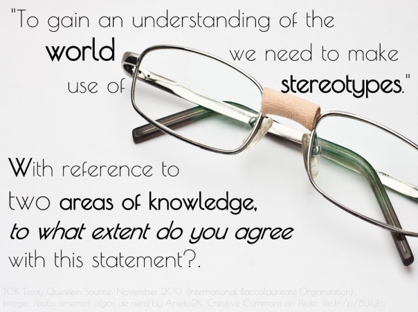 """To gain an understanding of the world we need to make use of stereotypes."" Image: flic.kr/p/8UfyEo"